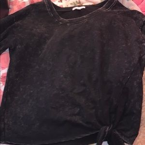 Acid wash crop sweatshirt NWOT